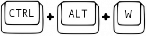 ctrl + alt+ w
