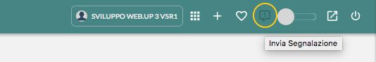 Bottone invia segnalazione in Web.UP