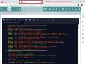 modifica script corrente full page