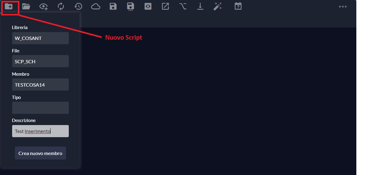 nuovo script